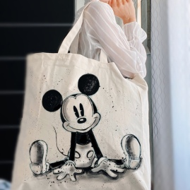 Tote Bag Mickey Mouse hand painted