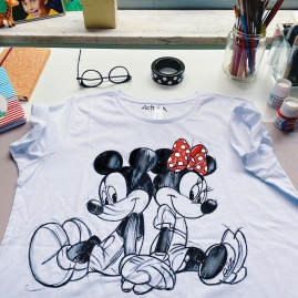 T-shirt Mickey Mouse hand painted
